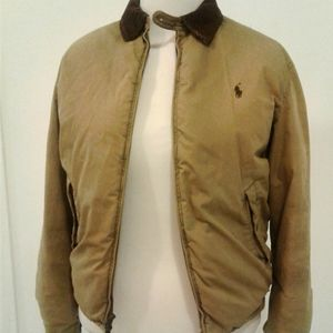 Polo Ralph Lauren Puffer tan cotton jacket down M